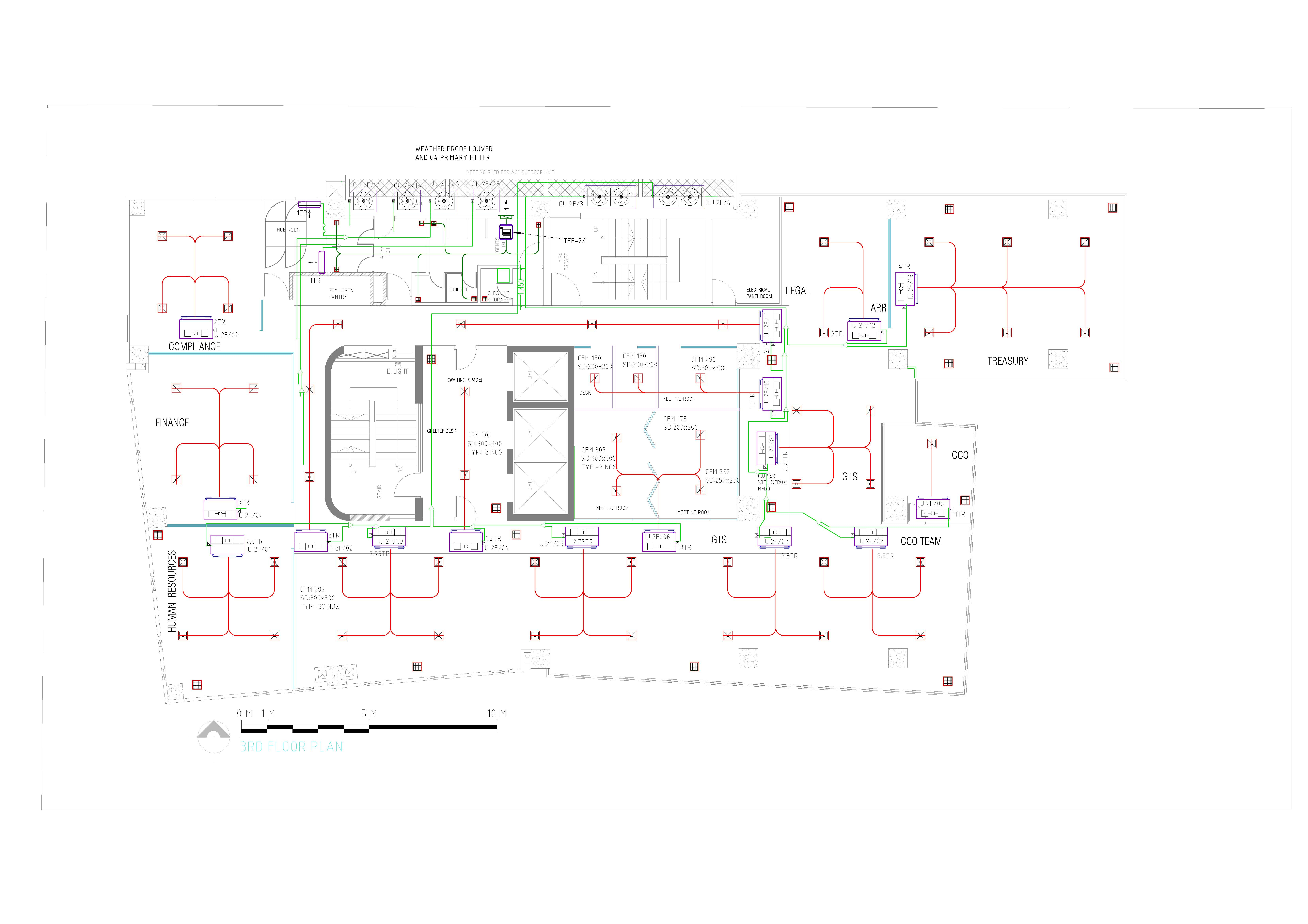 Draw Any Hvac System Layout Drawing For Autocad 2d By Mahabubur8407 Systems