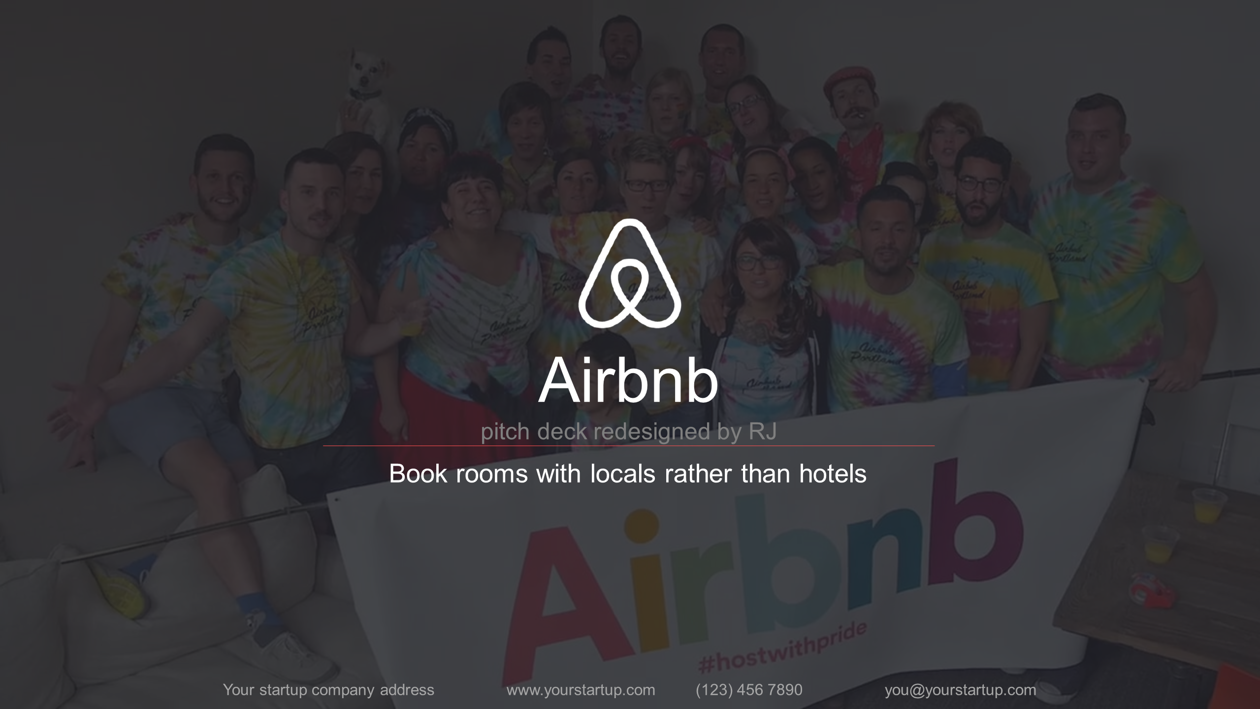 Provide Redesigned Airbnb Pitch Deck Template By Expertrj - Airbnb pitch deck template