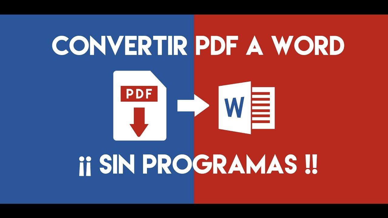 convertir pdf en word editable
