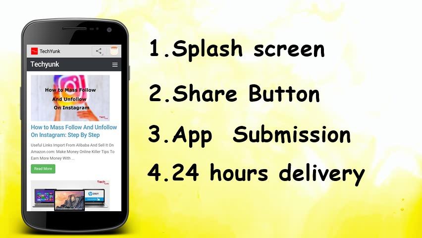 Convert a website into an android app by Techyunk