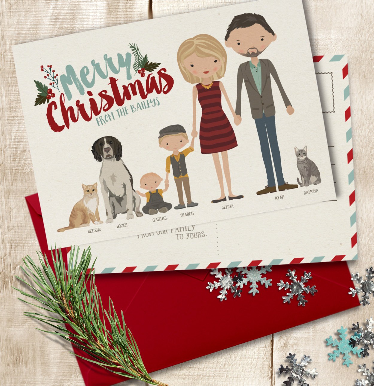 design a custom christmas card in 2 days by annesone - Current Christmas Cards