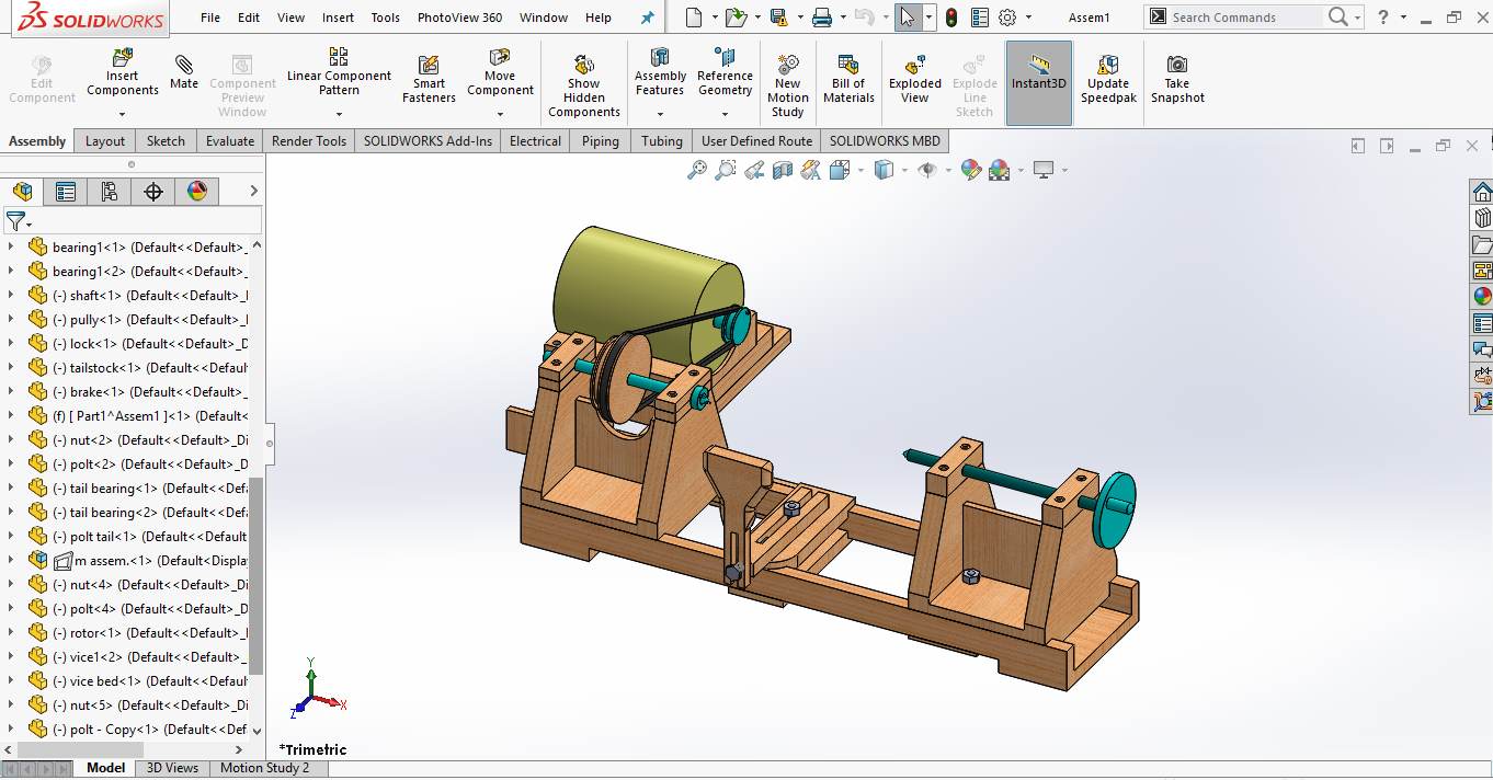 Design From Scratch To Motion Study With Solidworks By Mohammad Farag Piping Diagram