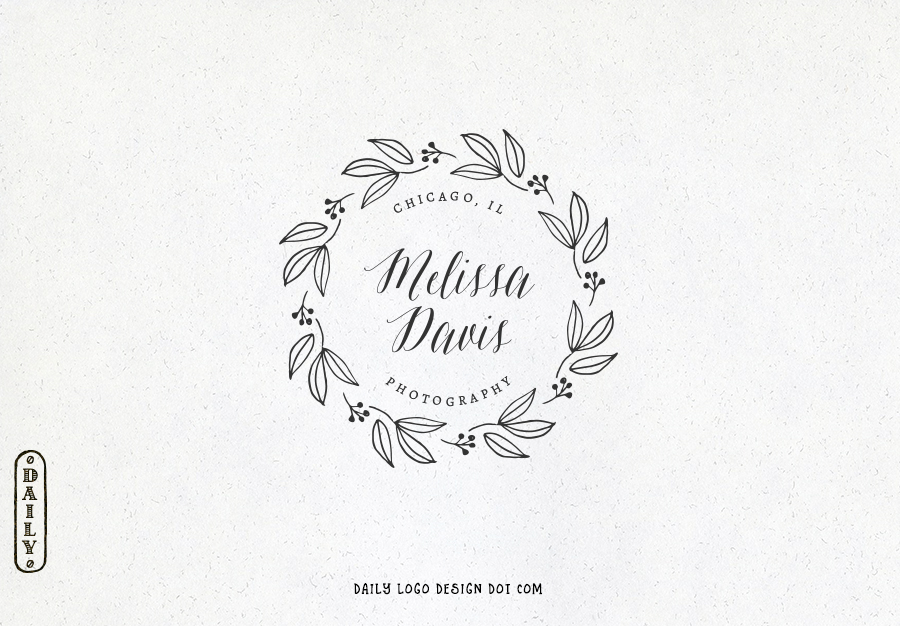 design wonderful hand drawing and text logo with satisfaction