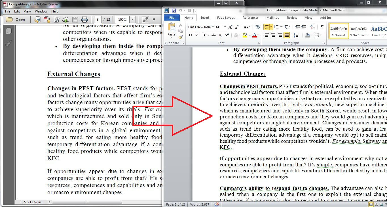 Convert pdf to word or excel by Zulfikar_hasan