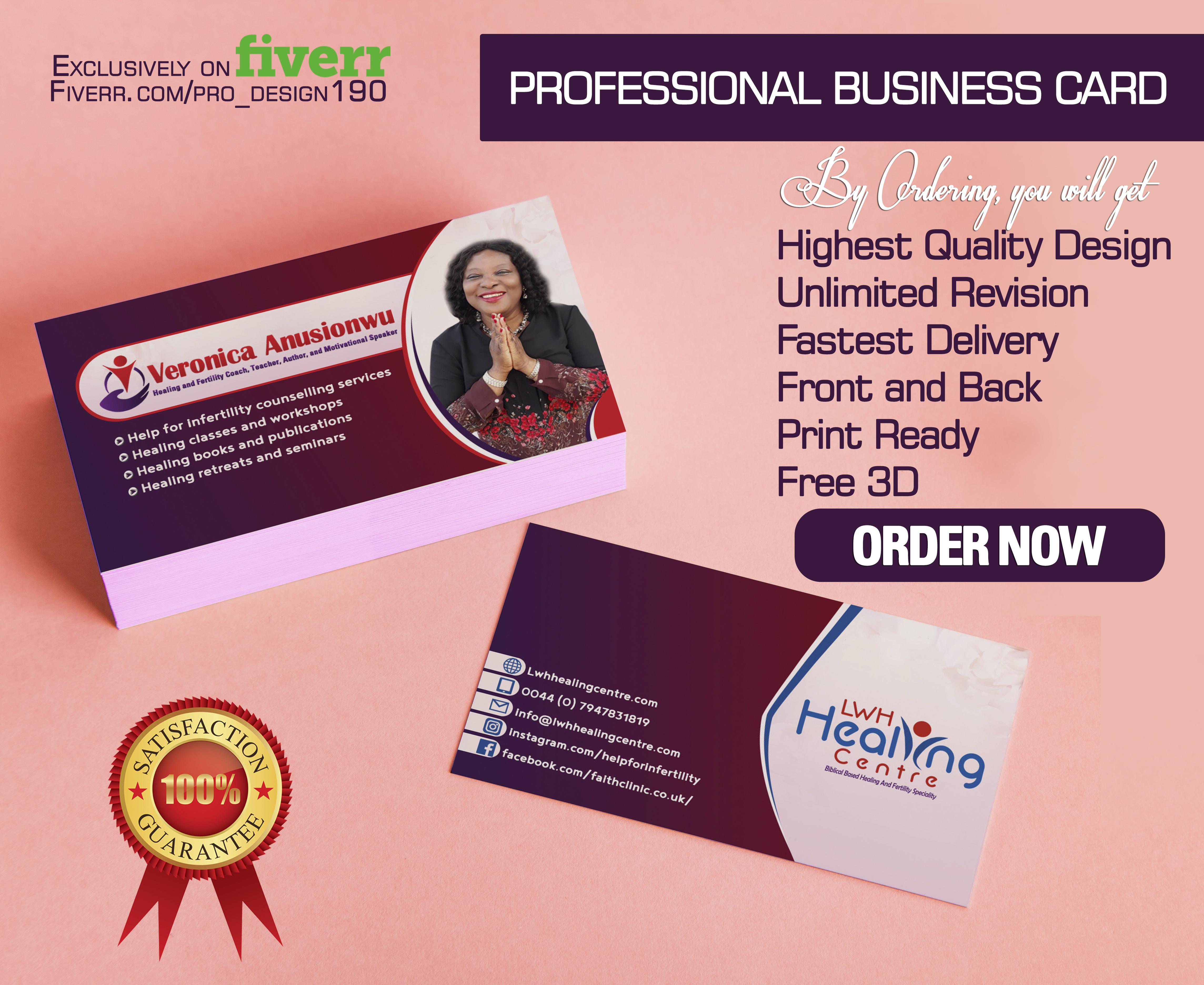 Design professional business card design by prodesign190 colourmoves