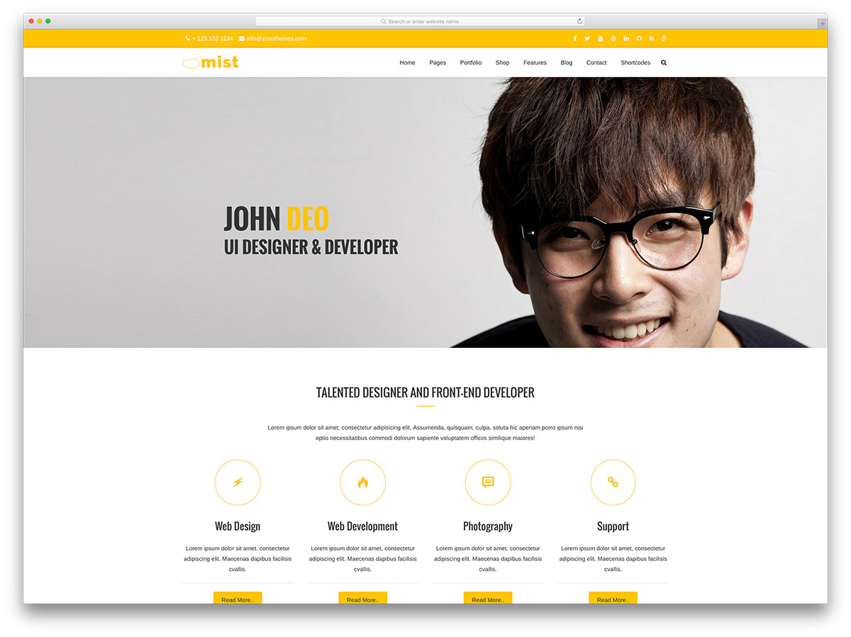 Create Professional Portfolio Website By Harishaziq