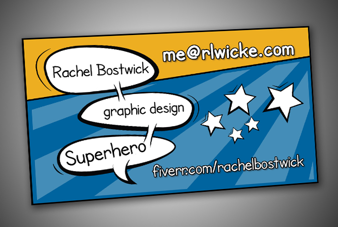 Create your super hero comic book business card by rachelbostwick colourmoves