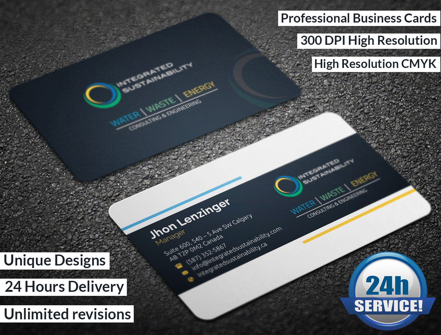 Do awesome business card designs by graphicstore reheart Image collections
