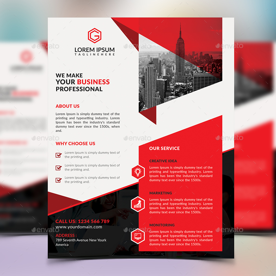 design business flyer and event flyer by graphic beach