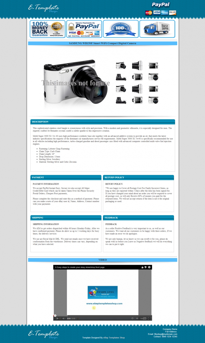 Design Professional Ebay Responsive Auction Listing Template By - Professional ebay listing templates