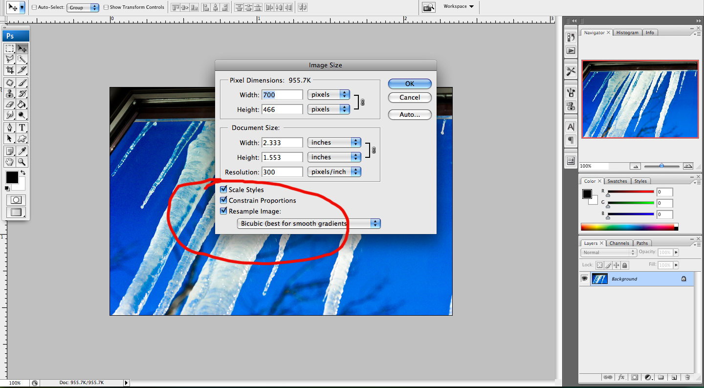 How To Resize An Image In Photoshop And