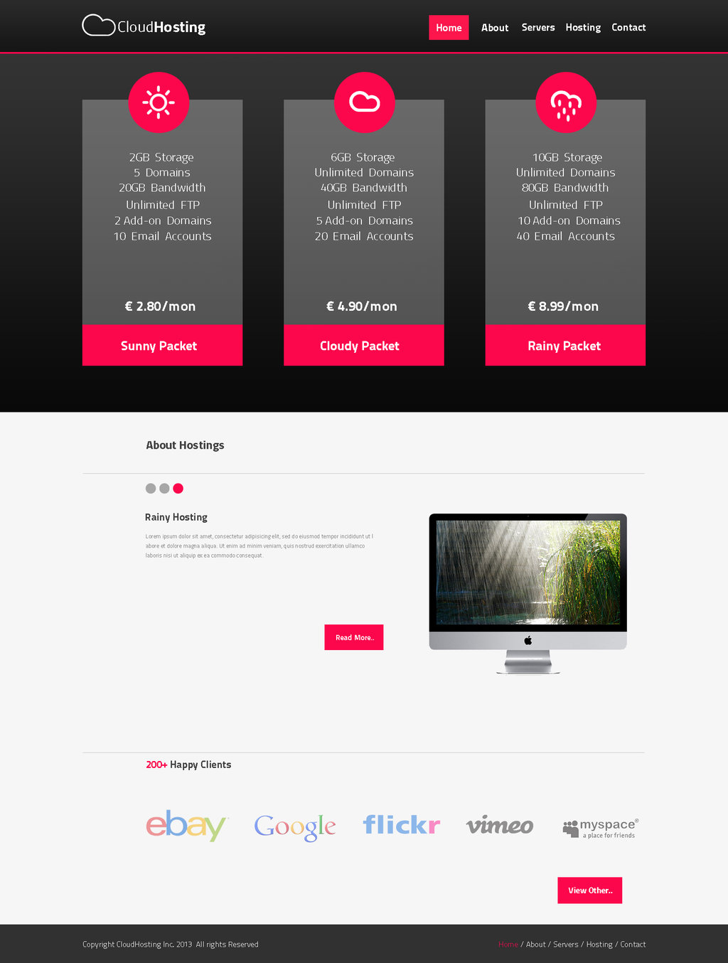 simple web page template