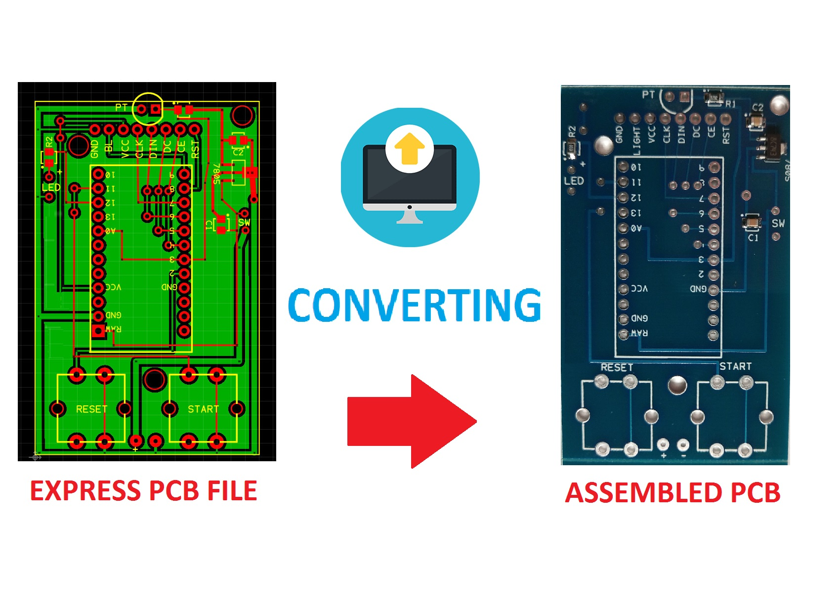 Convert Your Expresspcb File Into Gerber Files Printed Circuit Board Photo From Wwwexpresspcbcom