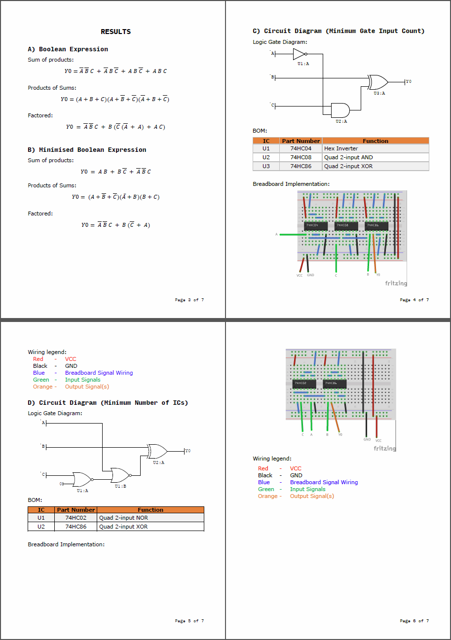 Design An Optimal Digital Circuit From Your Truth Table By Sergeyvk Logic Diagram Boolean Expression