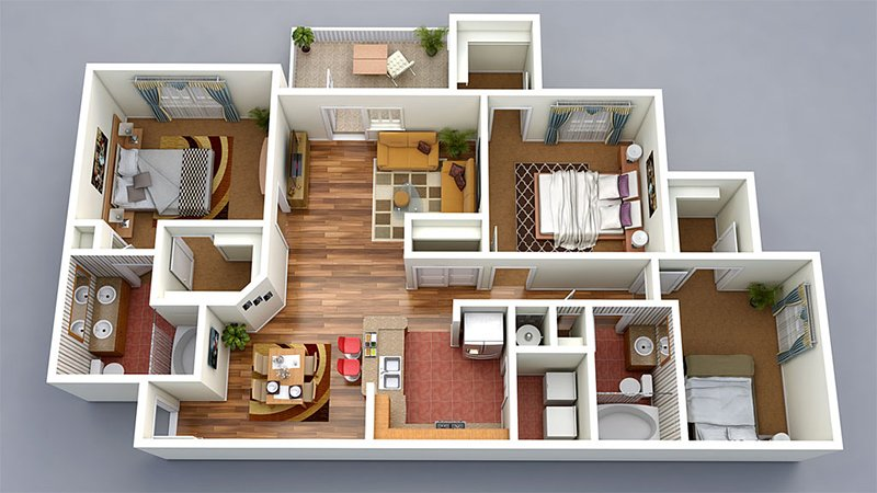 Floor Plan 3d Throughout Make 3d Floor Plan From Your By Mishuarch