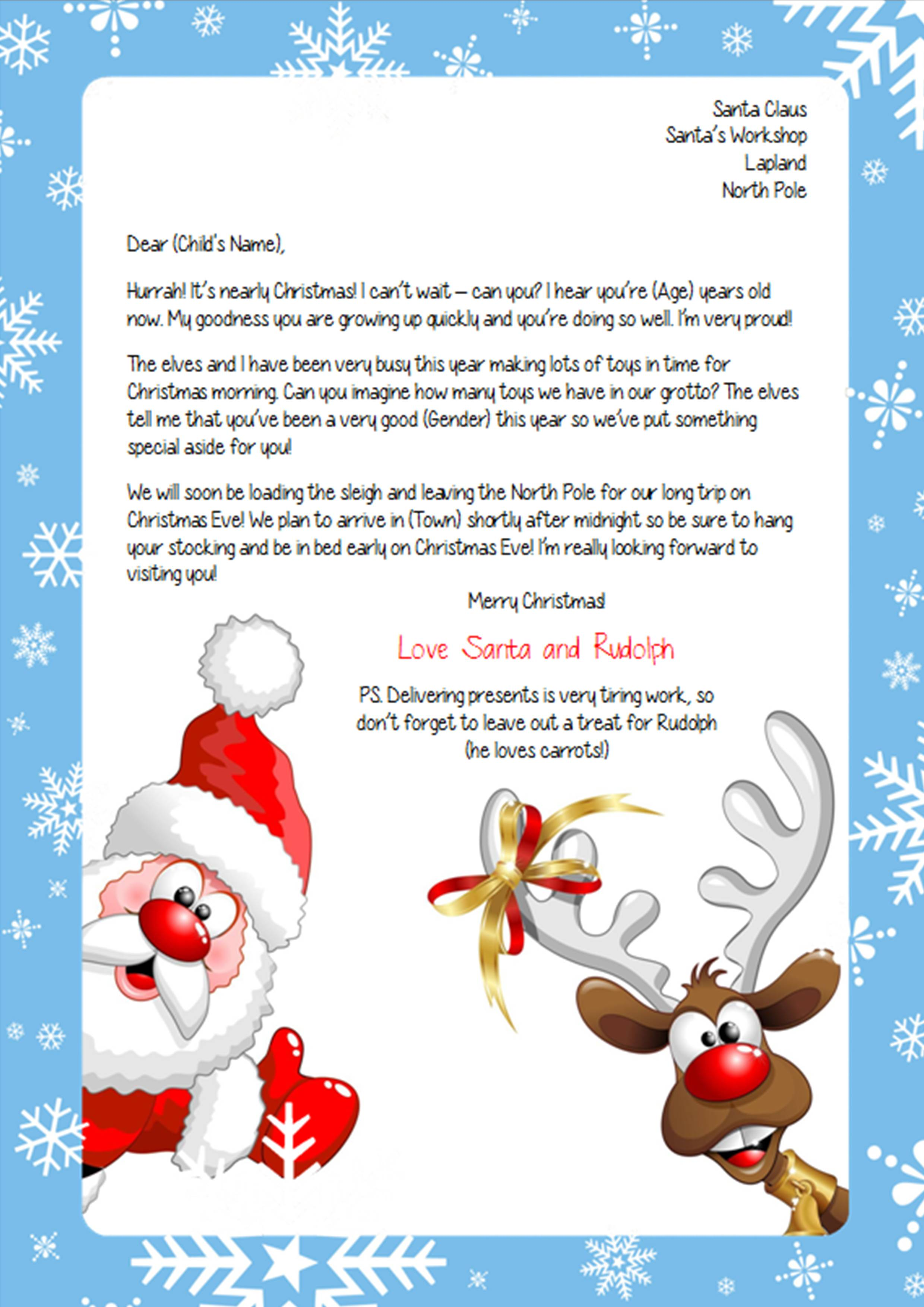 Personalize A Letter From Santa By Samanthabald297