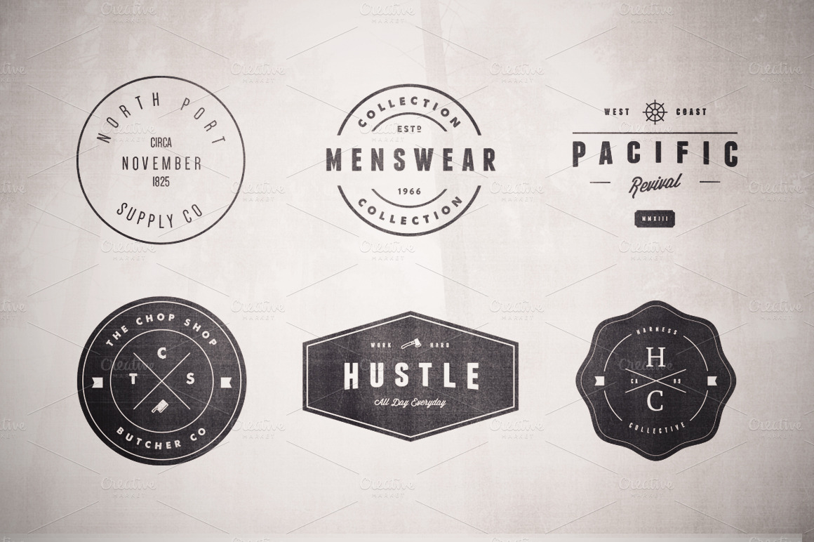 design 2 unique retro vintage logo and badge by zahiddesigner69