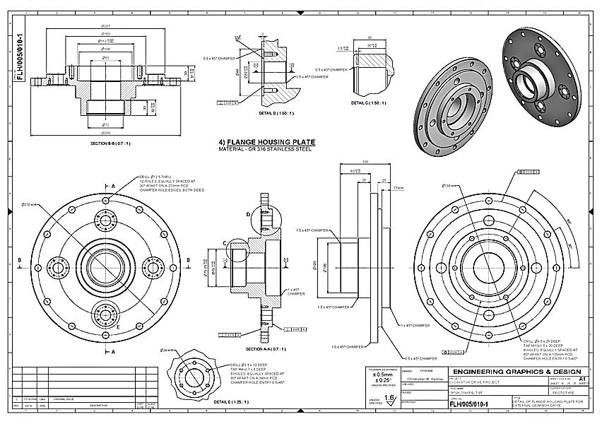 redraw technical drawings from pdf or pictures to cad by taklasawiris