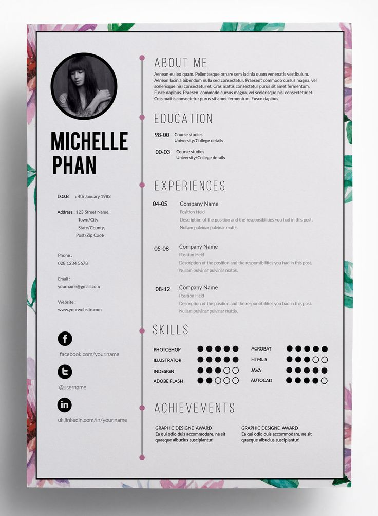 Design resume, cv, curriculum vitae and cover letter by Sky_717