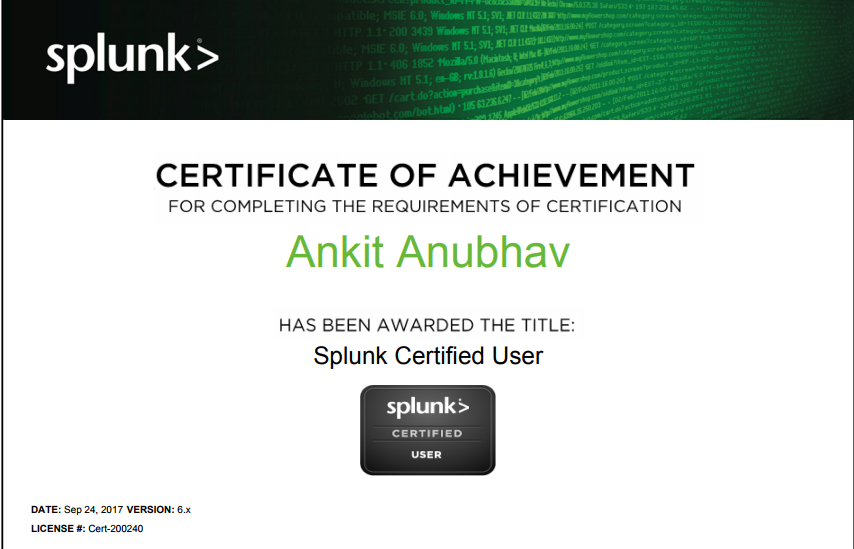Give You Tips To Crack Splunk Certification By Ankit0783