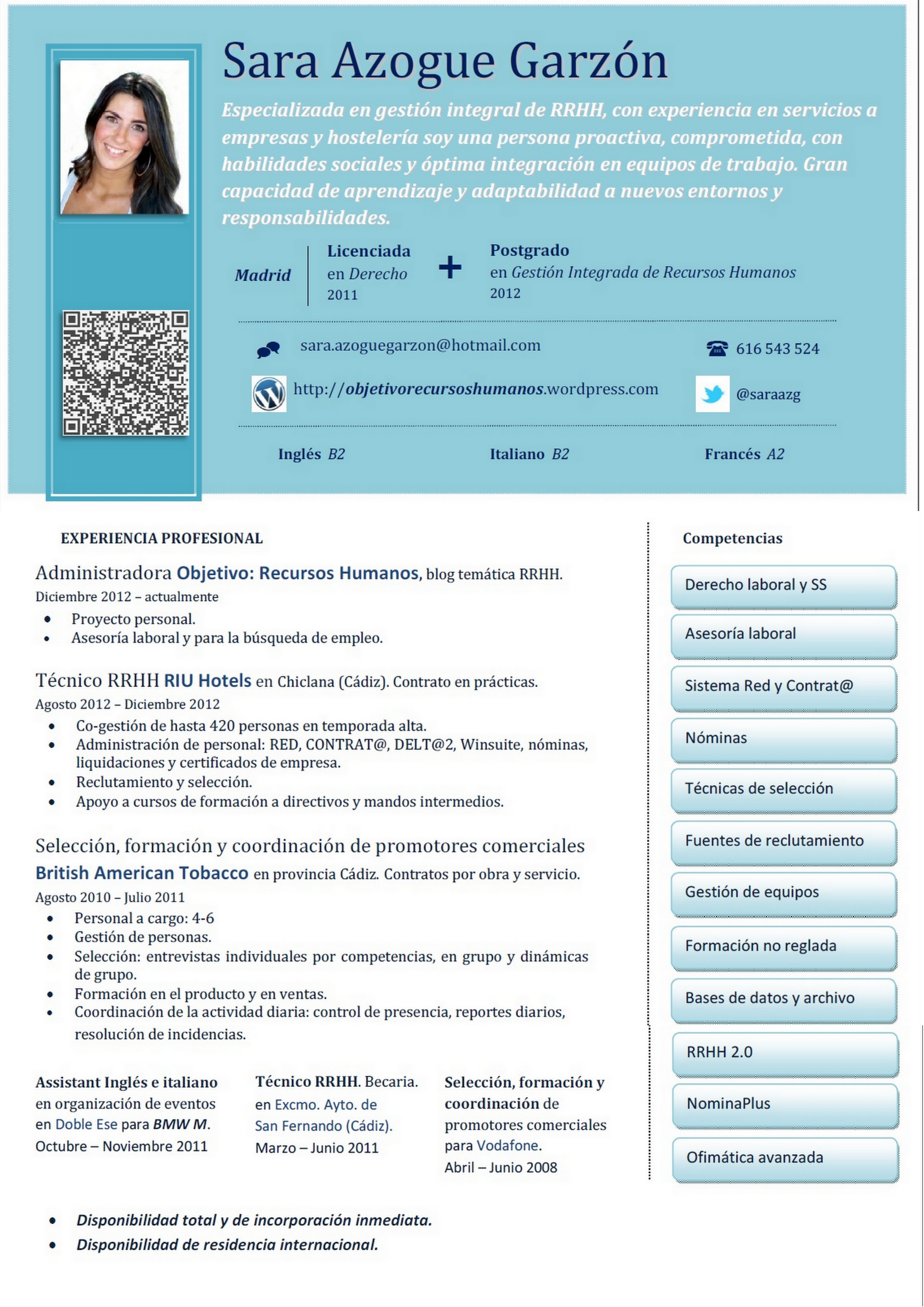 Writing, traslation and editing curriculum vitae by Cristap15