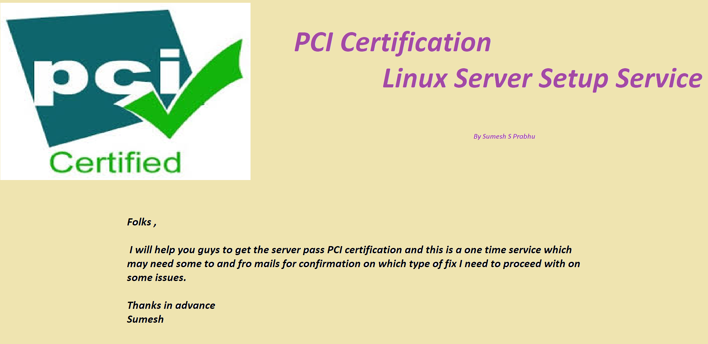 Do Linux Server Changes To Make It Pci Certified By Sumeshprabhu86