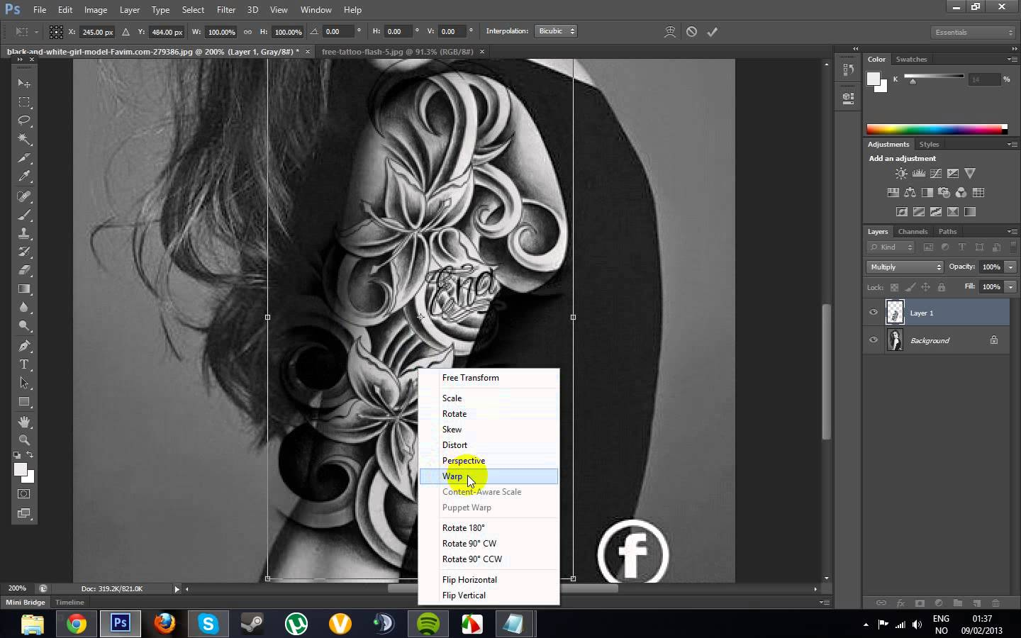 Best How To Create A Tattoo Design In Photoshop Image Collection