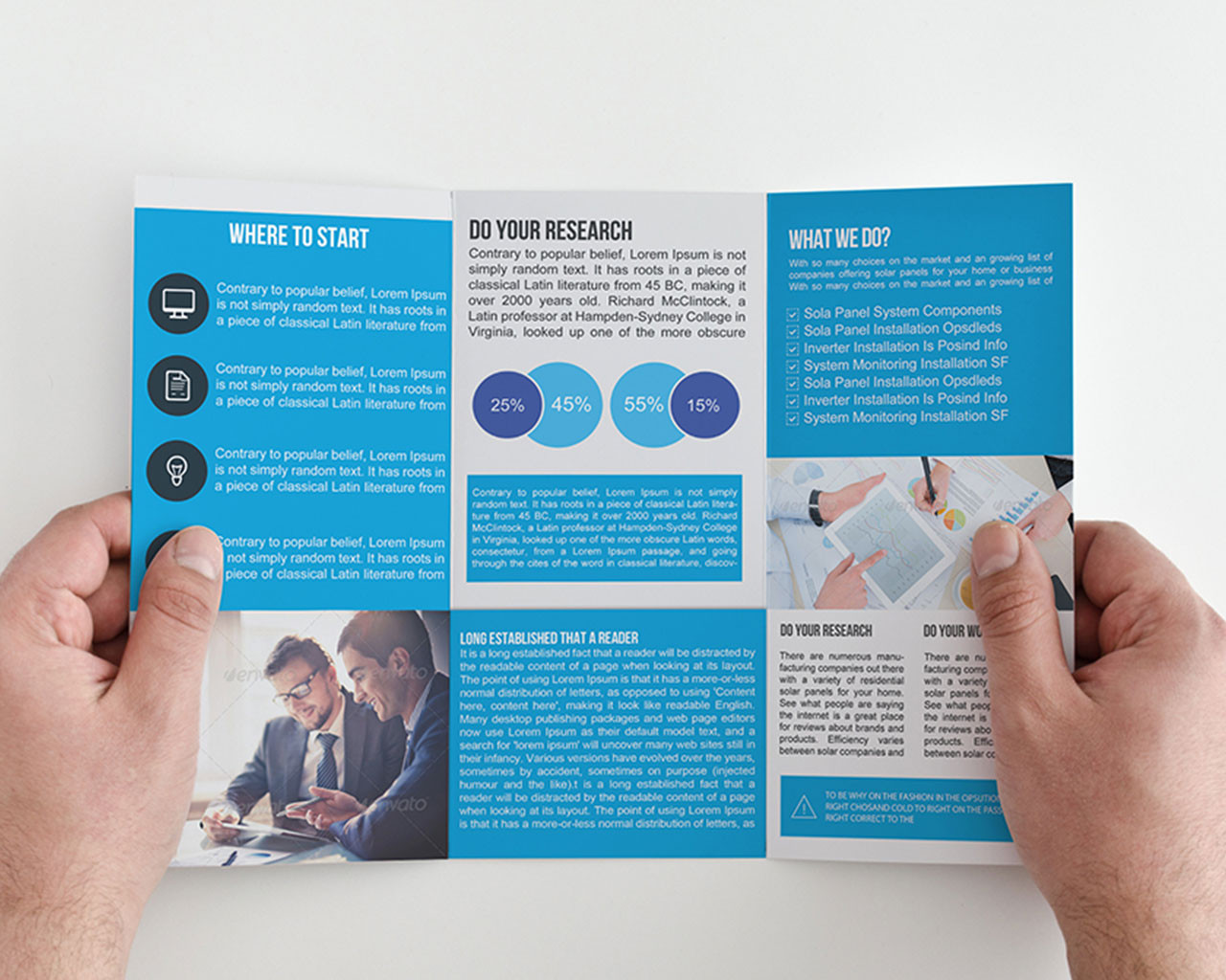 deliver 100tri fold brochure templates by dezign99co