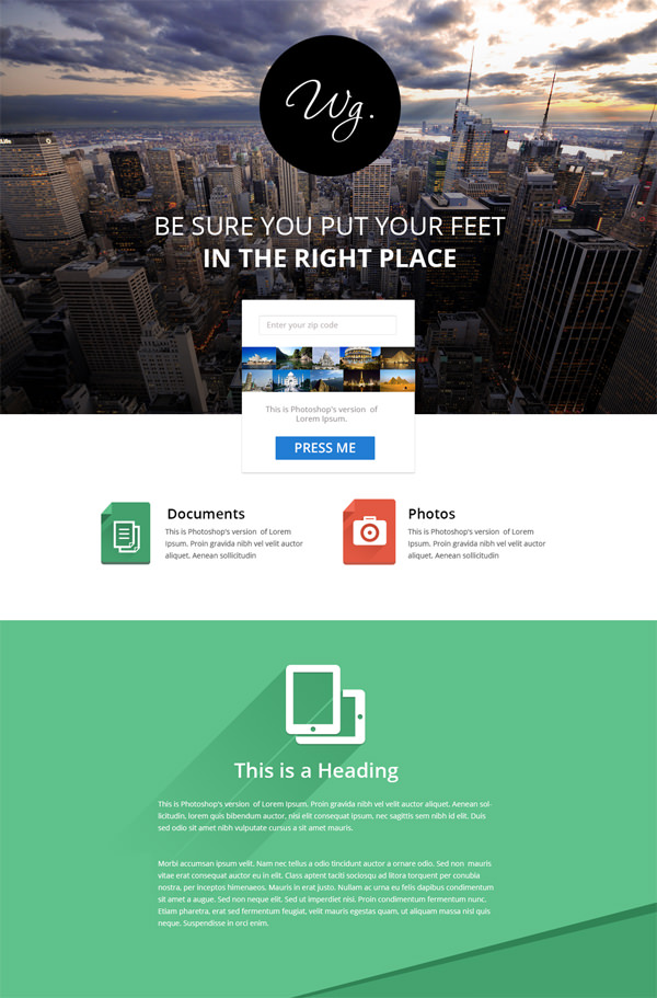design your psd web templates by nish chowdhury