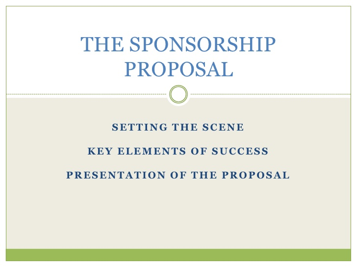 Write Strong Sponsorship Proposals For You