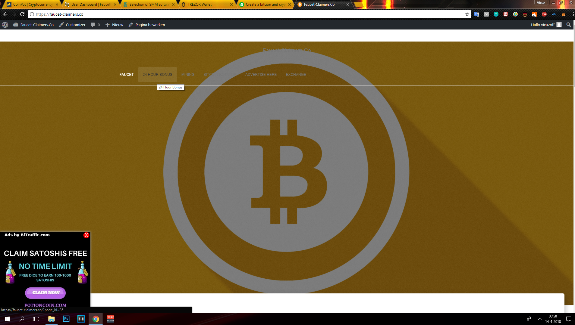 Earn bitcoin playing game, Hourly btc faucet