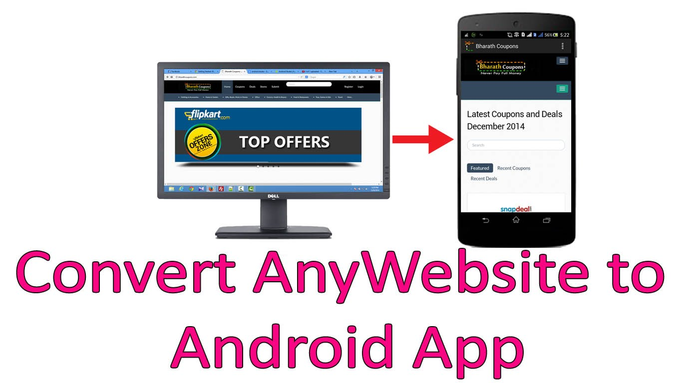 make website to android app