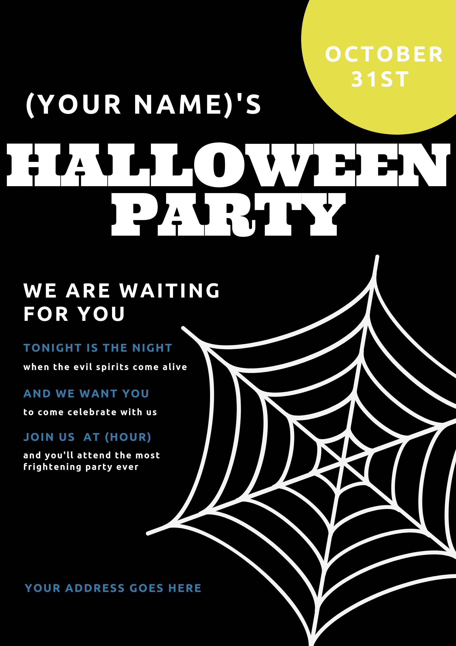 send you a personalized halloween party invitationwellidontknow