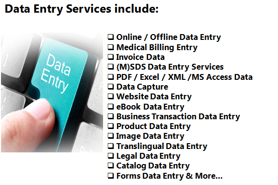 do any type of data entry for example mining anylysis etc by