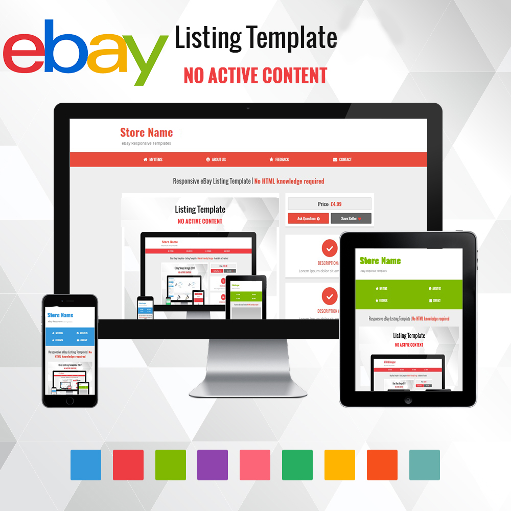 Give You Responsive Ebay Listing Template No Html Knowledge Required