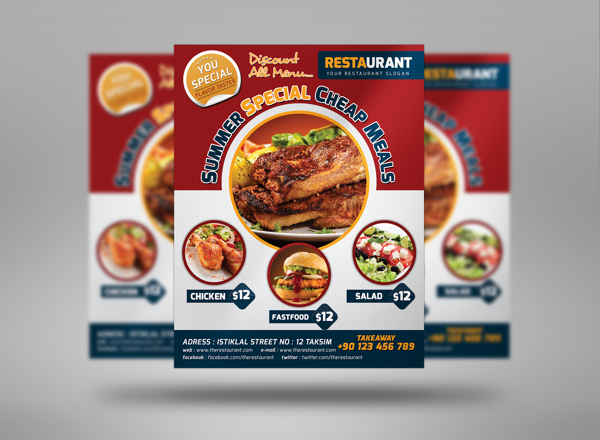 design mouth watering restaurant flyer by alishbaman