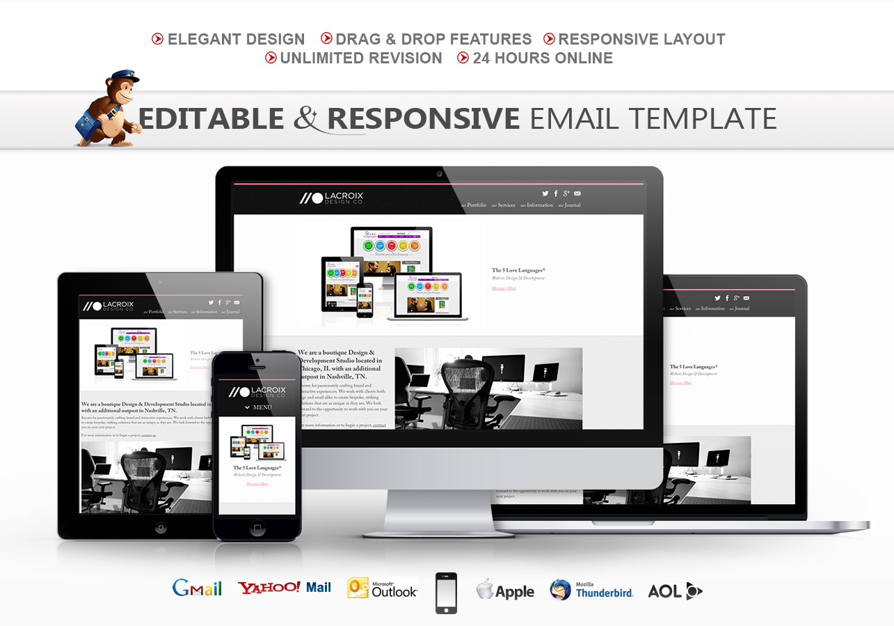 Design an editable and responsive mailchimp email template by Mehedi200