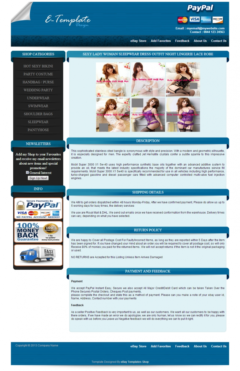 Design Professional Ebay Responsive Auction Listing Template By