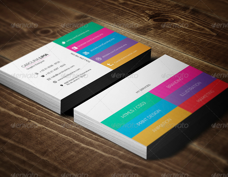 Design an amazing double sided metro business card by extraone colourmoves