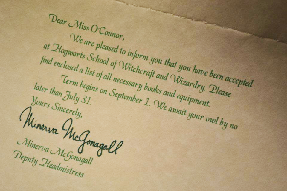 send you a personalized hogwarts acceptance letter by ignotusshubham