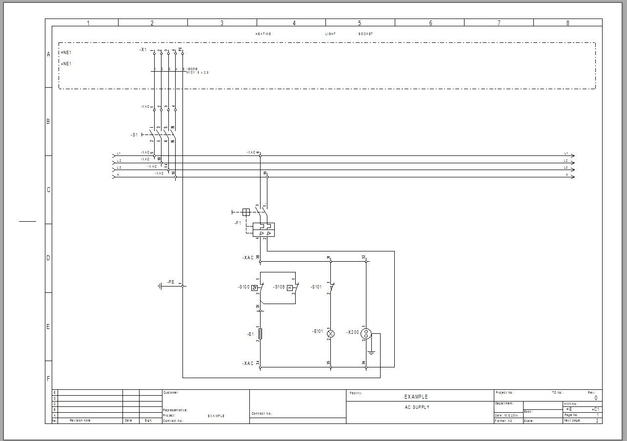 Draw Circuit Diagrams Using See Electrical Caddy By Zis 22 A Diagram
