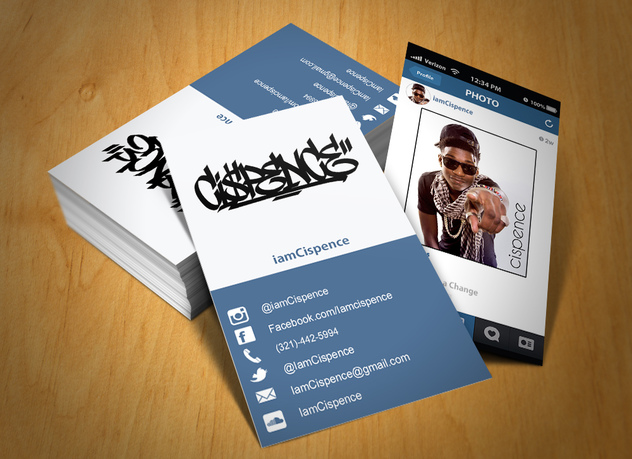 Instagram on business card oxynux creation of instagram business card by omarballouch reheart Images