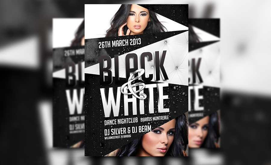 Design Stunning Event And Businessflyers And Brochures By Bisma - Black and white flyer template free