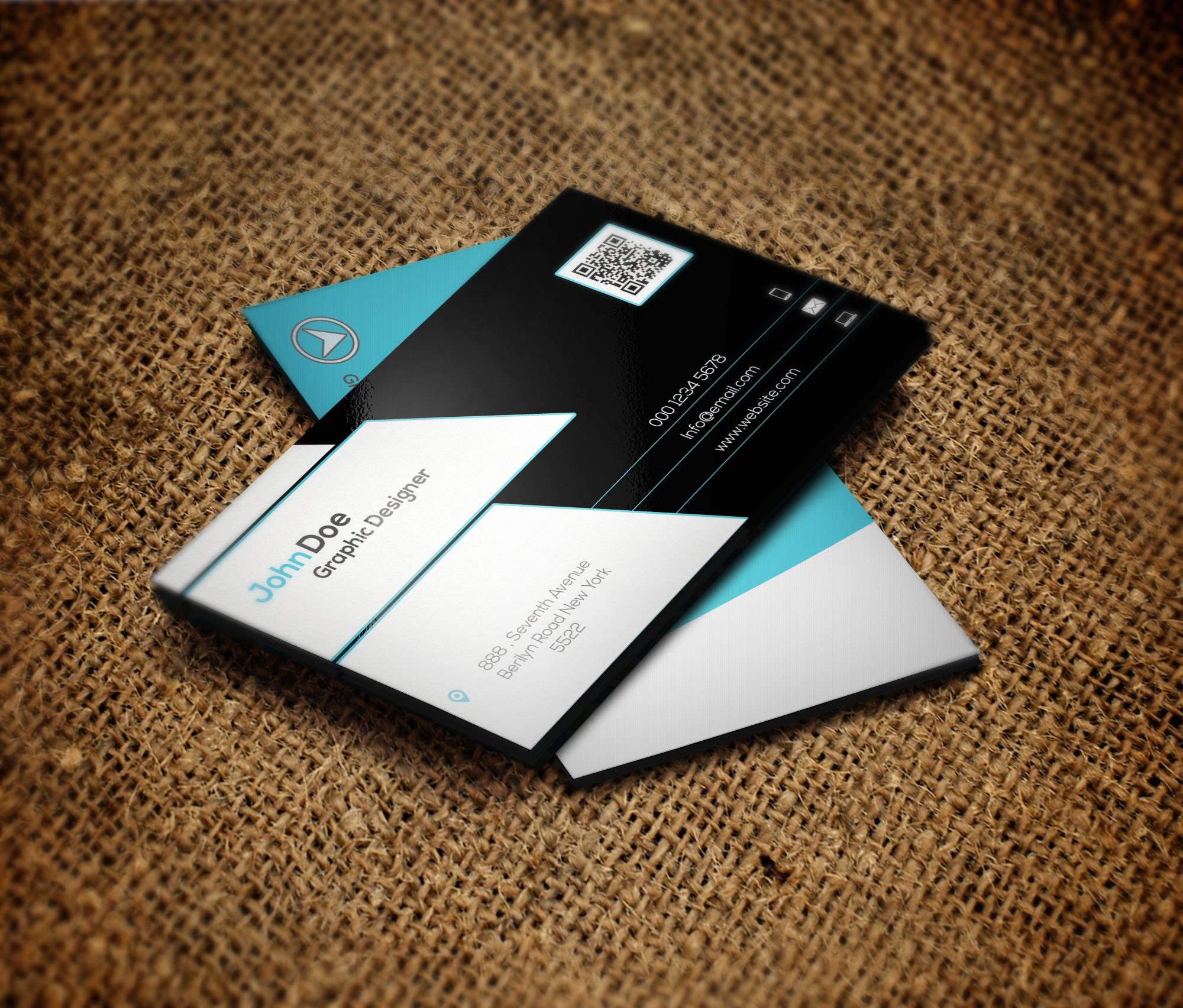 Design double sided business card by alizehdesigns reheart Image collections