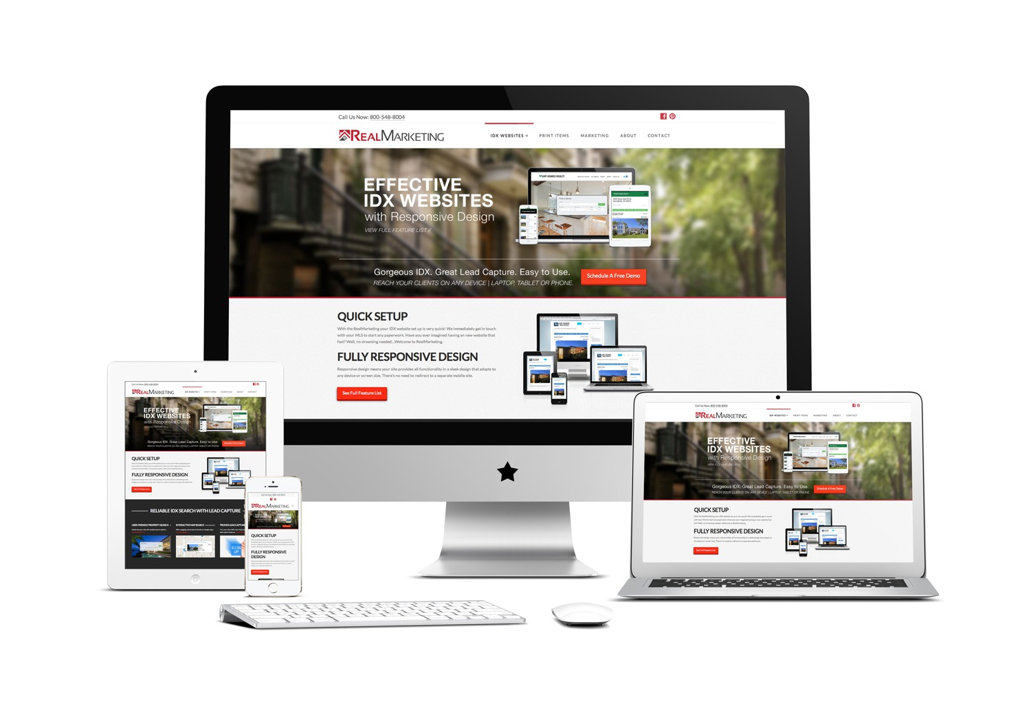 create an attractive website design mock up by samfisher3101