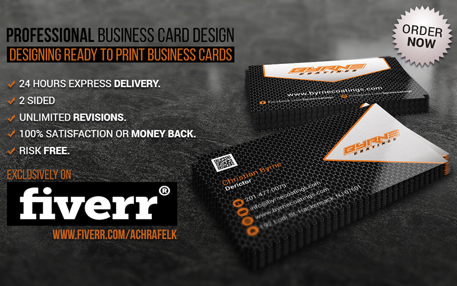 Design a professional business card by achrafelk reheart Gallery