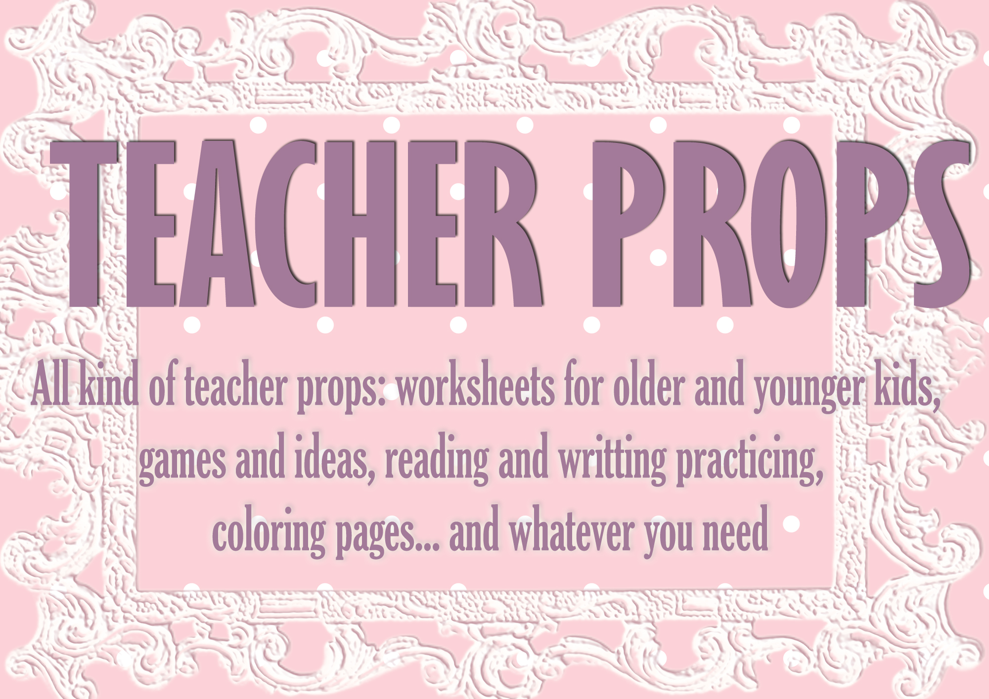 Make all kind of teacher props by Jovana023
