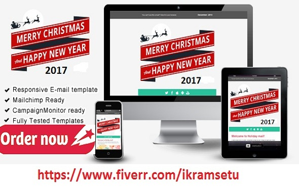 Do Merry Christmas And New Year Mailchimp Template By Ikramsetu - Mailchimp holiday templates