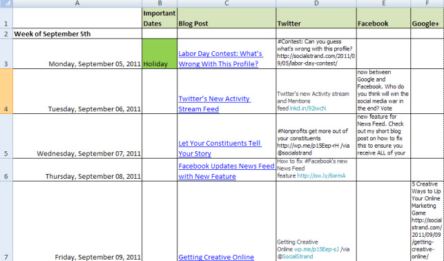 Create A 2weeks Social Media Content Calendar By Curtisoudia