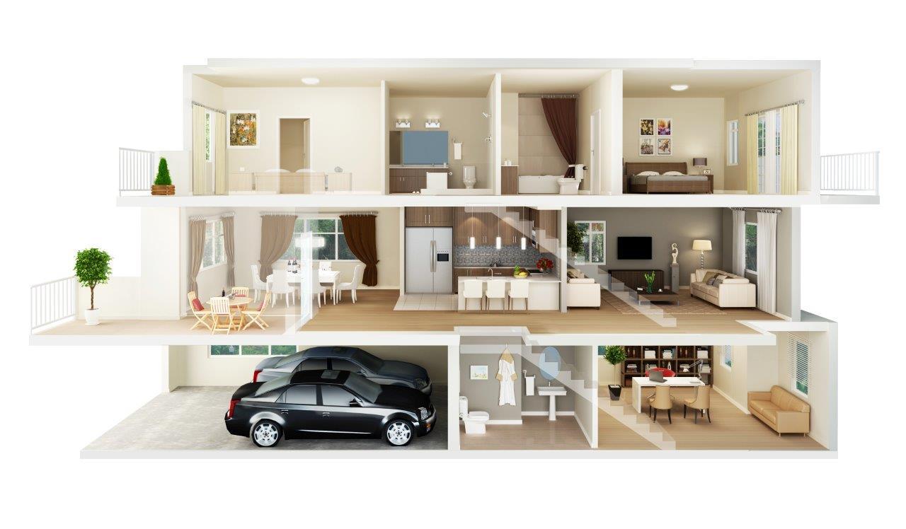 Do Render, Make 3d Floor Plan By Blue_ants